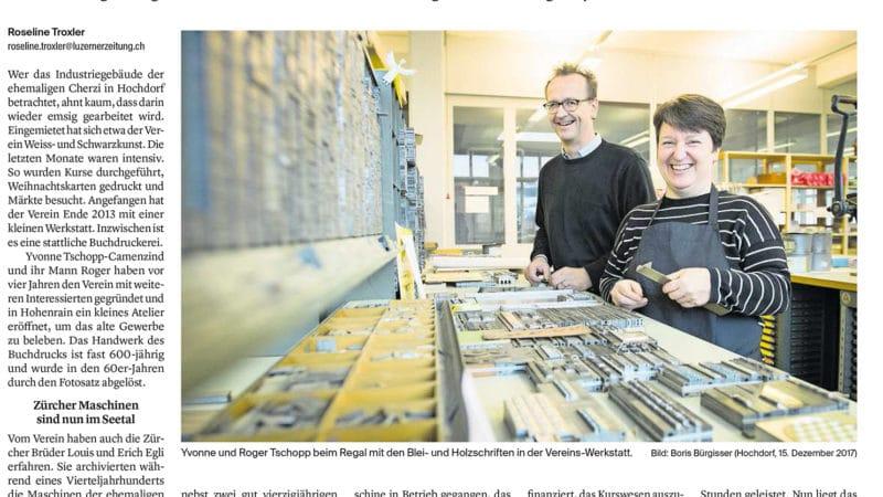 Pressespiegel in der Luzerner Zeitung
